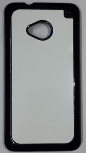 HTC Desire M7 Back Cover black With Self Photo;