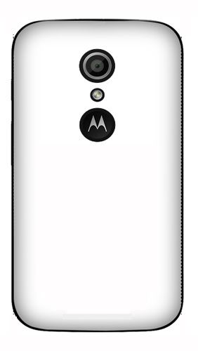 Moto G2 Mobile Back Cover black With Self Photo;