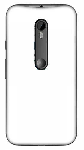 Moto G3 Mobile Back Cover black With Self Photo;