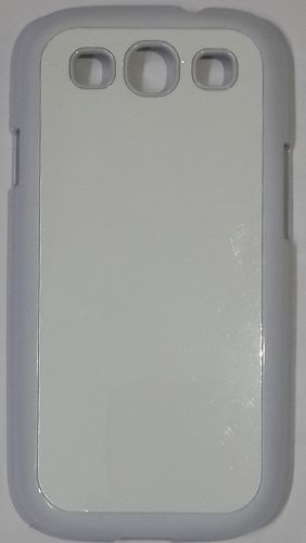 Samsung Galaxy S3 Back Cover white With Self Photo;