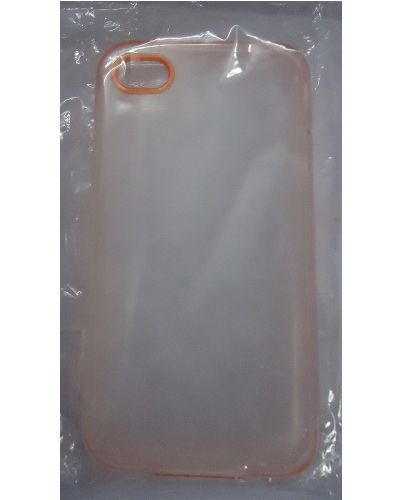 I phone 4G Transperent Back Cover Orange