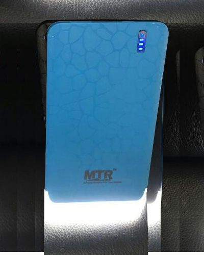 6600mAh MTR Power Castle USB Charger Portable External Battery Blue color