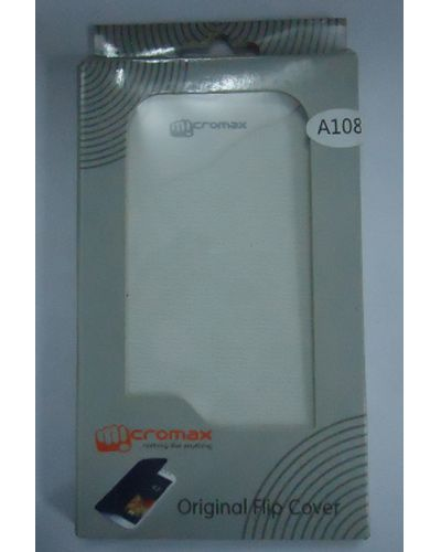 Micromax Canvas L A108 Flip Cover White