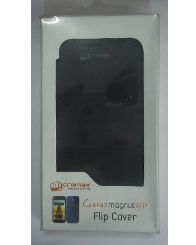 Micromax Canvas Magnus A117 Flip Cover Black