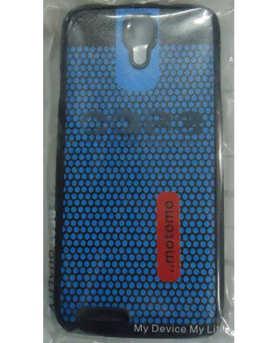 Micromax Canvas Juice A177 Blue Dot Pattern Back Cover