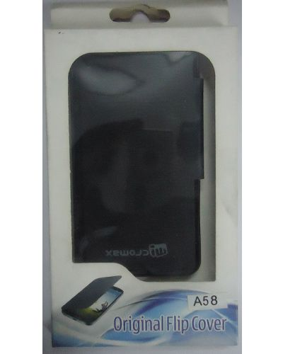 Micromax Bolt A58 Flip Cover Black