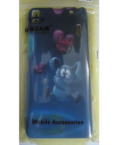 Lenovo A7000 Cute Elephant Printed Hard Back Case Cover blue