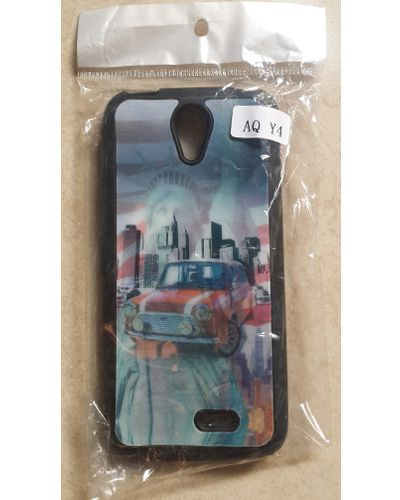 Intex Aqua Y4 Statue of Liberty,Town Buildings and Old car 3D Effect Back Case Cover