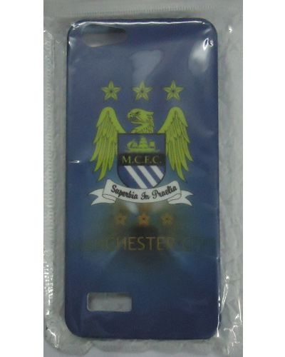 Micromax Canvas HUE AQ5000 Manchester City Football Club Team Logo Back Cover Blue