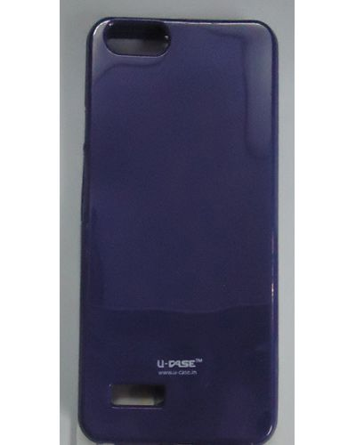Micromax Canvas HUE AQ5000 Hard Back Cover Case Solid Blue