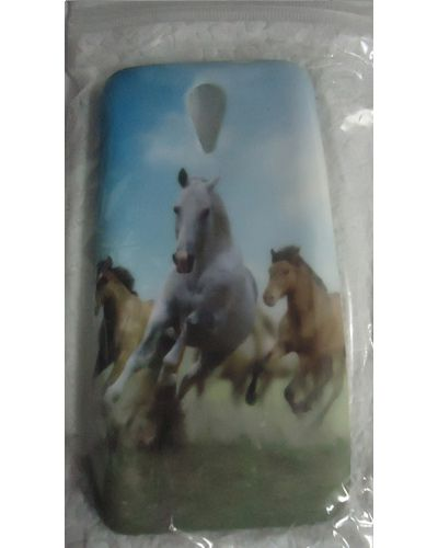 HTC DESIRE 620 Horses Print Back Cover Case