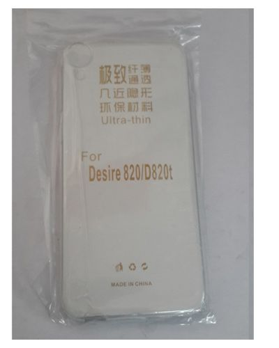 HTC DESIRE 820 TRANSPARENT SILICON SOFT RUBBER BACK COVER