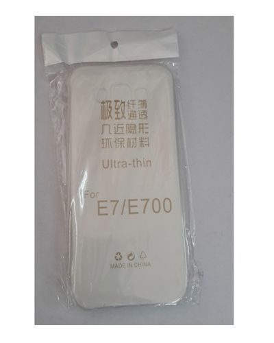 SAMSUNG E7 TRANSPARENT SILICON SOFT RUBBER BACK COVER