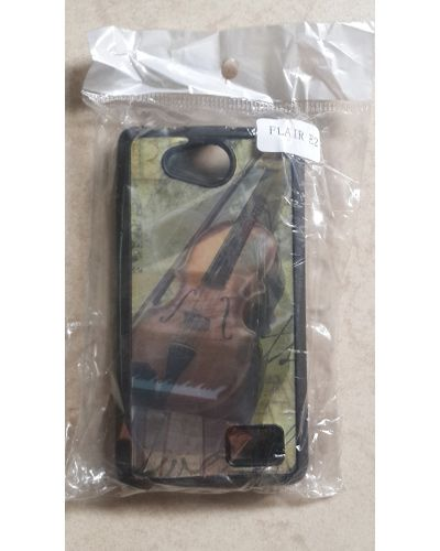 Lava Flair E2 Designer Violin Print Back Cover Case