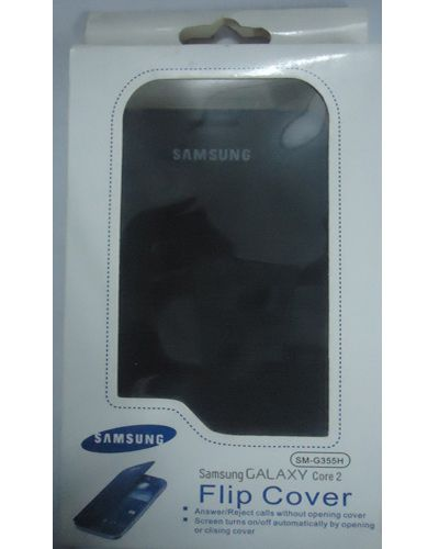 Samsung Galaxy Core 2 G355H Flip Cover Black