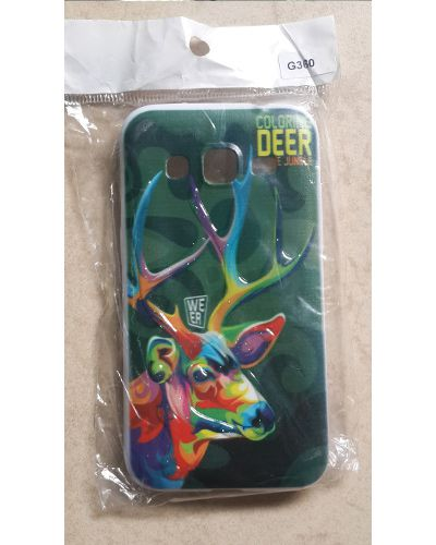 Samsung Galaxy Core Prime G360 Colourine Deer Print Back Cover Case