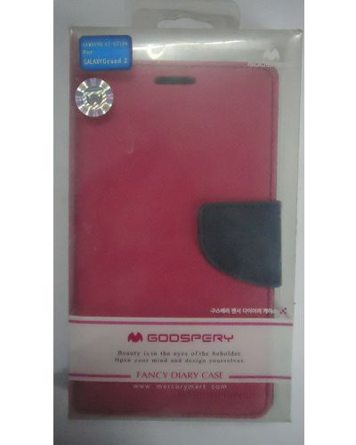 Samsung Galaxy Grand 2 Mercury Goospery Flip Cover Case Red With Black