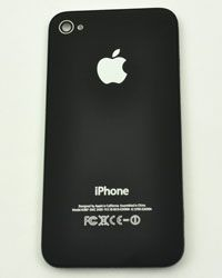 Back Panel For Apple iPhone 4 Color Black