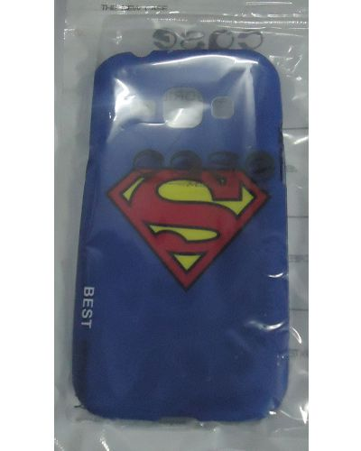 Samsung Galaxy J1 Red Superman Logo Print Back Cover