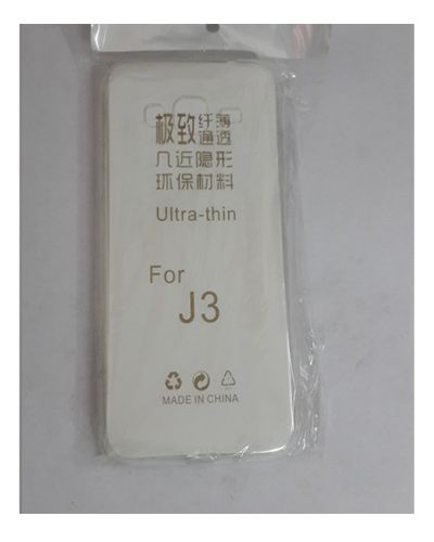 Samsung Galaxy J3 TRANSPARENT SILICON SOFT RUBBER BACK COVER