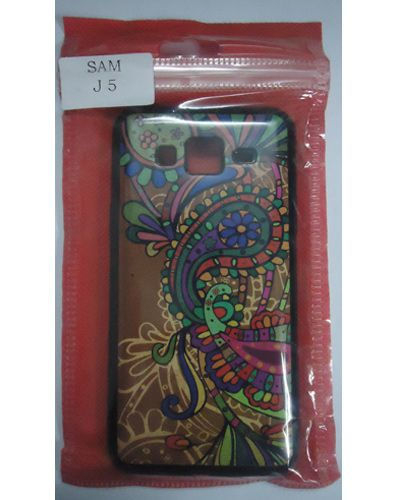 Samsung Galaxy J5 Colourful Peacock Tribal Modern Back Cover Case