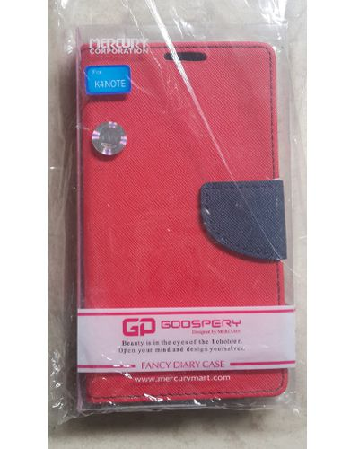 Lenovo K4 Note Goospery Mercury Flip Flap Diary Cover Case Red With Black