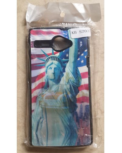 Karbonn Titanium High 2 S203 USA Flag Statue Of Liberty 3D Back Cover Case