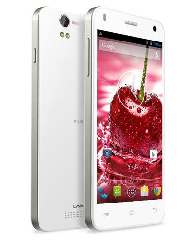 Lava Iris X1 LCD Display with Touch Screen White