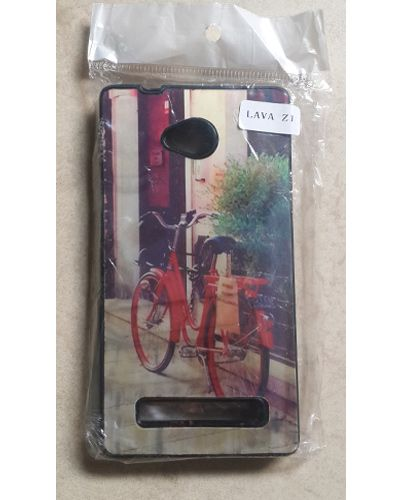 Lava Flair Z1 Designer Red Bicycle Back Cover Case