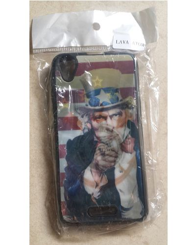 Lava Iris Atom Uncle Sam Print Back Case Cover