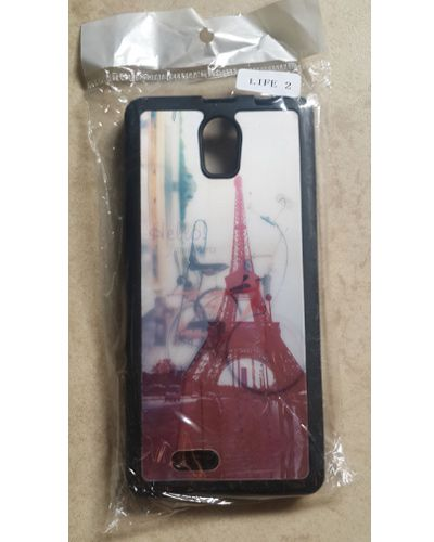 Intex Aqua Life 2 Red Eiffel Tower Printed Back Cover Case