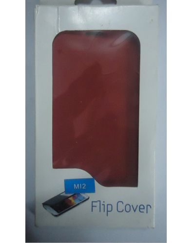 Gionee Marathon M12 Flip Cover Red