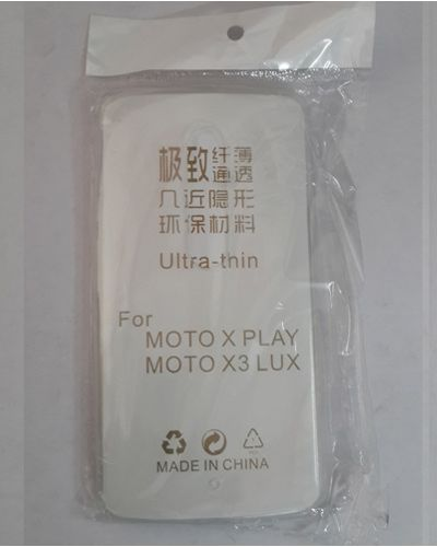 MOTO X PLAY TRANSPARENT SILICON SOFT RUBBER BACK COVER