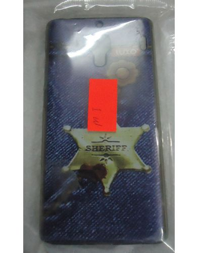 Xiaomi Redmi Mi Sheriff Star Print Back Cover Blue