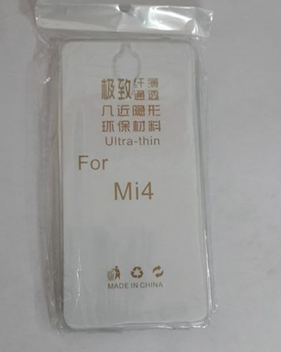 Xiaomi Mi4 TRANSPARENT SILICON SOFT RUBBER BACK COVER