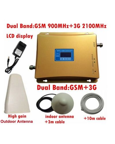 900/1800 MHz Dual Band GSM+WCDMA 3G Cell Phone Signal Booster Repeater Amplifier