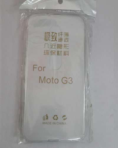 MOTO G3 TRANSPARENT SILICON SOFT RUBBER BACK COVER