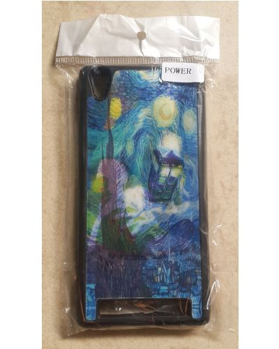 Intex Aqua Power Beautiful Art Printed Back Cover Case Blue