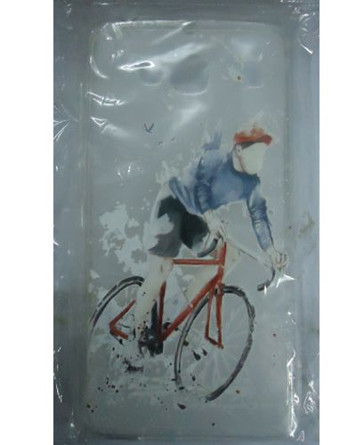 Xiaomi Redmi Mi2 Boy On Bicycle Designer Back Case Cover White