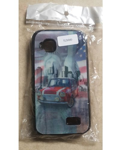 Micromax Bolt S300 Statue of Liberty,Town Buildings and Old car 3D Effect Back Case Cover