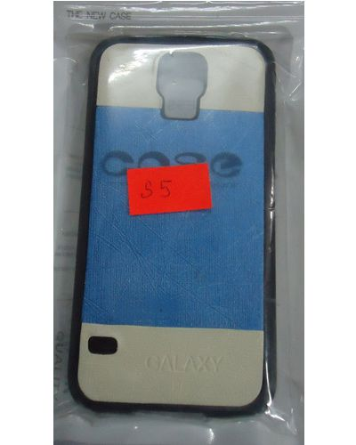 Samsung Galaxy S5 Designer Back Cover White With Light Blue