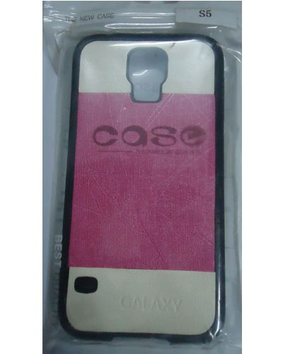 Samsung Galaxy S5 Designer Back Cover White With Pink