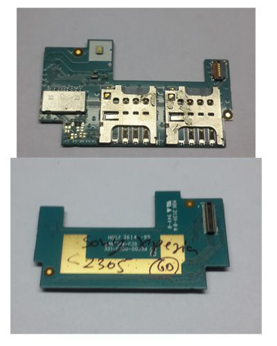 Sony XPERIA C Sim Card Reader, mmc connector, touch connector