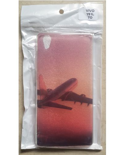 Vivo Y51L Aeroplan In The Air Printed Back Case Cover