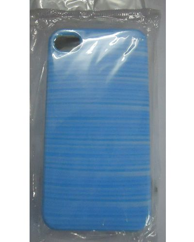 I phone 4 Blue Stripes Print Back Cover Case