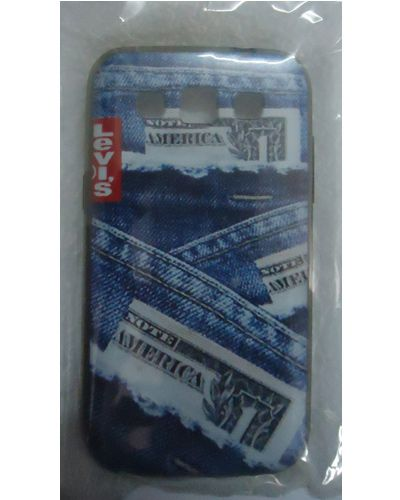 Samsung Galaxy Grand Quattro I8552 Jeans Pattern Back Cover Blue