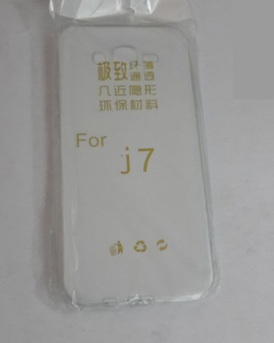 Samsung Galaxy J7 TRANSPARENT SILICON SOFT RUBBER BACK COVER