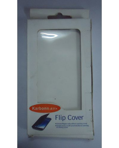Karbonn A11 Plus Flip Case Cover White