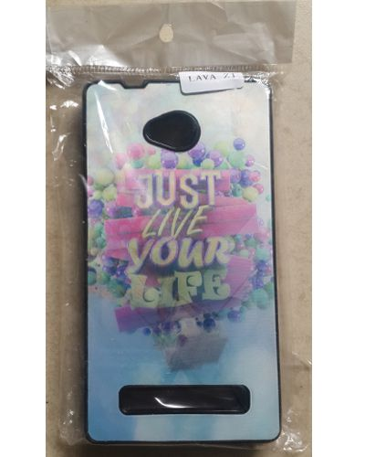 Lava Flair Z1 Designer Just Live Your Life Print Back Cover Case
