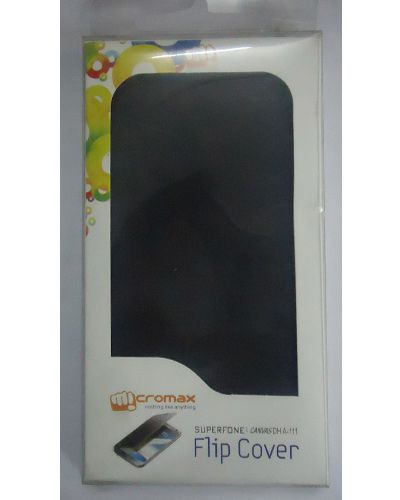 Micromax Canvas Doodle A111 Flip Case Cover Black